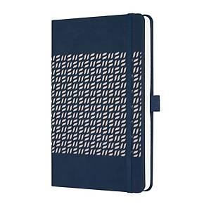 Sigel Conceptum Pure notitieboek A5, hardcover elastieksluiting, gelijnd, blauw