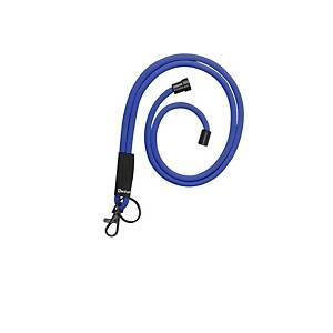 Cordon textile rond pour badge Tarifold, L 46 cm, bleu, le paquet de 10