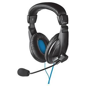 Kopfhörer Quasar Trust, für PC/Laptop, schwarz/blau