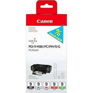 Canon PGI-9 Inkjet Cartridge Mbk/Pc/Pm/R/G