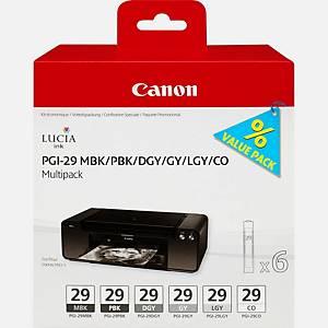 Canon PGI-29 Inkjet Mbk/PBK/Dgy/Gy/Lgy/Co