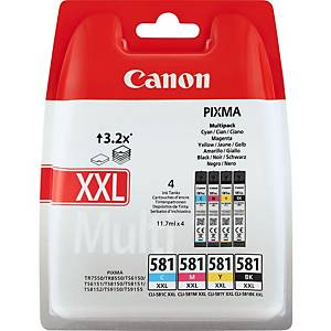 Canon CLI-581 XXL Inkjet Cartridge B/C/M/Y