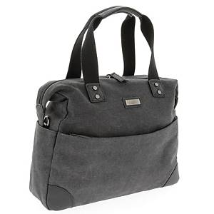 PIERRE WOMEN COMPUTER BAG CANVAS GREY