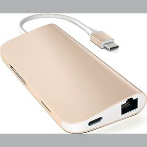 SATECHI USB-C MULTI ADAPTER 4K GOLD