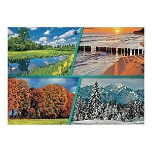 Kalendarz trójdzielny CRUX, płaski, kot i pies