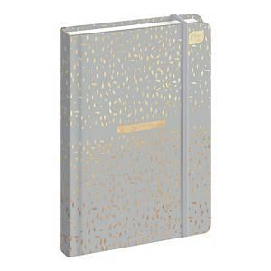 Kalendarz INTERDRUK A5, tygodniowy, szary ze złotymi akcentami