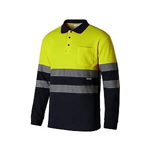 Polo A/V Velilla 305515 - amarillo/azul marino - talla L