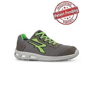 Zapato de seguridad U-Power Summer S1P - gris/verde lima - talla 37