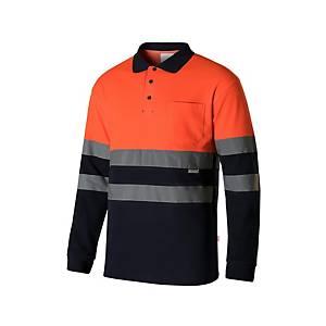 Polo A/V Velilla 305515 - naranja/azul marino - talla M