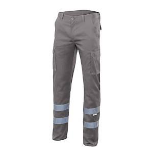Pantalón multibolsillo alta visibilidad Velilla 103014S - gris - talla 56