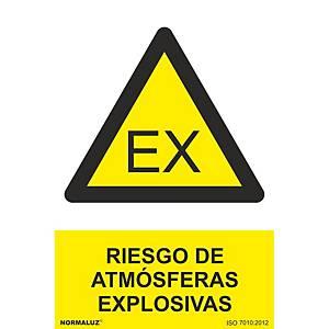 Señal  atmosferas explosivas  - PVC - 210 x 300 - clase B