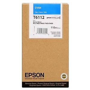 Epson T6112 Ink Cartridge Cyan