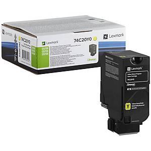 Lexmark 74C20Y0 Laser Toner Cartridge Yellow