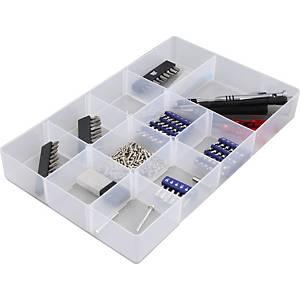 Boîte de rangement en plastique Allstore, 5,5 l, transparente, la boîte