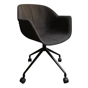 Gant black/charcoal, set of 2 chairs