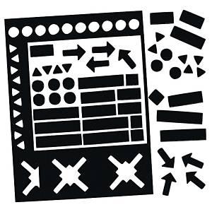 Legamaster magnetische symbolen, set van 30 stuks, zwart