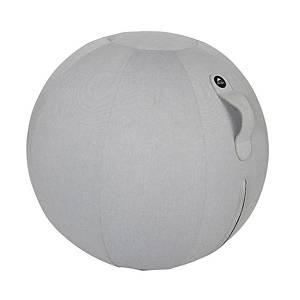 Chaise-ballon ergonomique Alba, gonflable, diamètre 65cm, livré avec pompe, gris