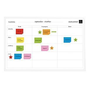 Tableau de planification des tâches Exacompta, magnétique, l 90 x H 59 cm, blanc
