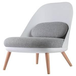 PAPERFLOW ARMCHAIR COCOON WHITE GREY