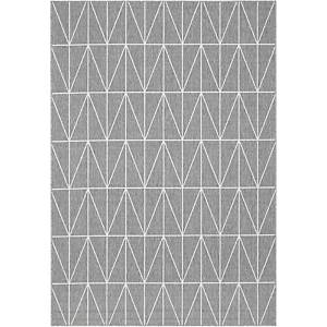 Paperflow Fenix tapijt, 120 x 170 cm, grijs met lijnenmotief