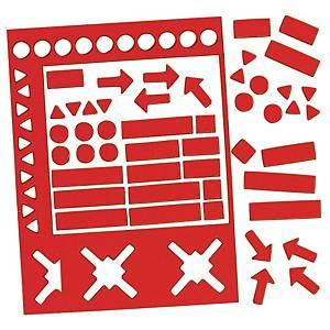 Legamaster magnetische symbolen, set van 30 stuks, rood