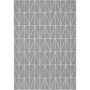 Paperflow Fenix tapijt, 160 x 230 cm, grijs met lijnenmotief