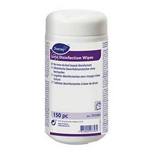 Lingettes désinfectants Suma, blanc, boîte de 150pièces