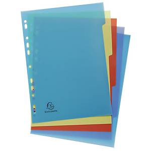 Exacompta Forever Recycled Polypropylene A4 Dividers, 5 Parts