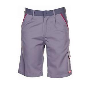 Herren Shorts Planam Highline 222371, Grösse XL, zink/schiefer/rot