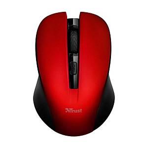 Bezdrátová  myš TRUST 21871 MYDO SILENT, červená