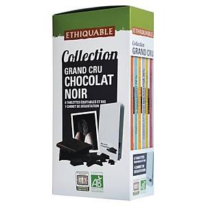 Chocolat noir bio Ethiquable grand cru - 6 tablettes de 100 g