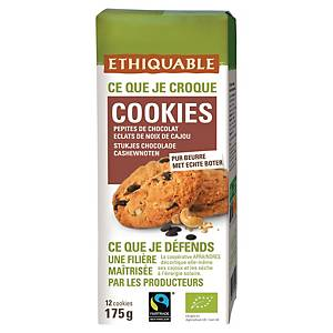 Cookie bio Ethiquable - pépites chocolat noir et noix de cajou - paquet de 12