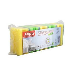 Formázott mosogatószivacs extra grip DRT0206, 5 darab