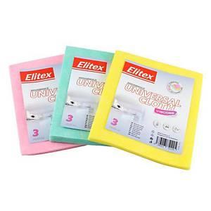 DRT0845 Univerzális törlőkendő, 38 x 33, 90 g, vegyes szín:ben, 3 db/csomag
