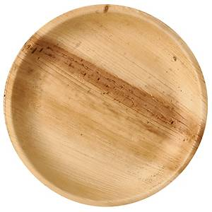 Pappteller Palmblatt 85503, Ø 230mm, natur, 25 Stück