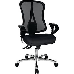 Bürostuhl Topstar Head Point Deluxe, mittelhohe Rückenlehne, schwarz