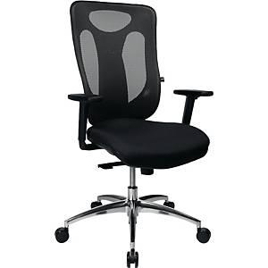 Bürostuhl Topstar Sitness Net Pro, mittelhohe Rückenlehne, schwarz