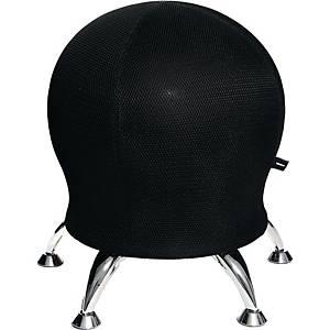Sitzball Hocker Sitness 5, schwarz/chrom