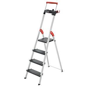 Aluklappleiter Hailo 8050-407, 4 Stufen, Tragkraft: 150 kg