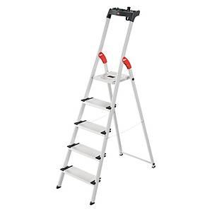 Aluklappleiter Hailo 8040-507, 5 Stufen, Tragkraft: 150 kg