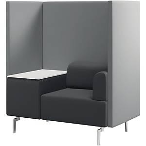 Besuchersessel + Tisch Rocada 1806, 1 Sessel + Tisch, schwarz/grau