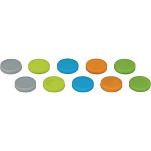 Haftmagnet Maul 6166699, Neodym-Silikon Magnet, max. 0,8kg, Set mit 10 Stück