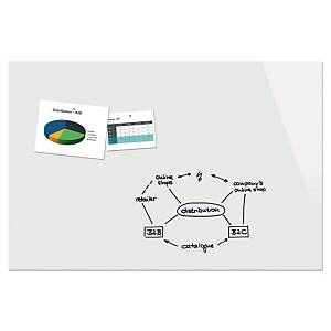 Magnettafel Be!Board B1600, Maße: 180 x 120 x 0,9cm (BxHxT), Glas, rein-weiß