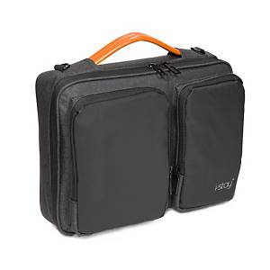 I-Stay IS0801 Laptop Sleeve Bag With Adjustable Non-Slip Strap 13.3  Black/Grey