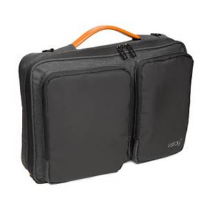 I-Stay IS0802 Laptop Sleeve Bag With Adjustable Non-Slip Strap 15.6  Black/Grey