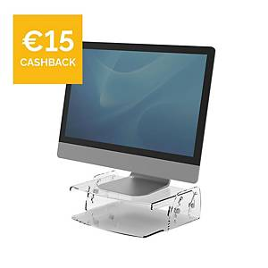 Fellowes 9731101 Clarity Series Adjustable Monitor Riser