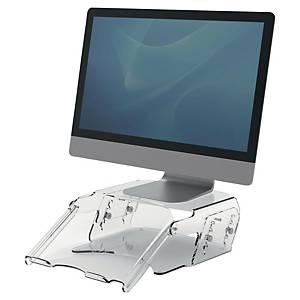 Support écran PC Fellowes Clarity + porte-documents - H 10 à 16 cm - transparent