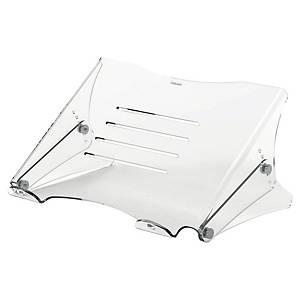 Pied pour ordinateur portable Fellowes Clarity, hauteur réglable, transparent