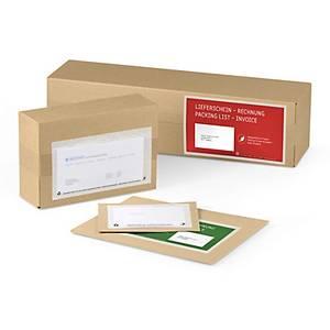 Pochette pour documents Mecouvert, fenêtre à gauche, rouge
