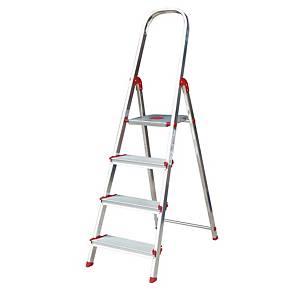 Escalera Rolser Norma 220 con 4 Peldaños Anchos - 151 cm